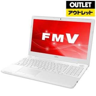 【アウトレット品】 15.6型ノートPC [Win10 Home・Core i7・HDD 1TB・メモリ 8GB・Office付] LIFEBOOK AH51/C3  FMVA51C3Wプレミアムホワイト 【生産完了品】