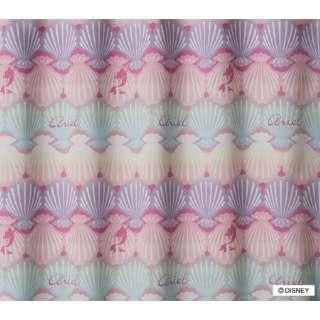 ドレープカーテン プリンセス/シェル(100×135cm/ピンク)