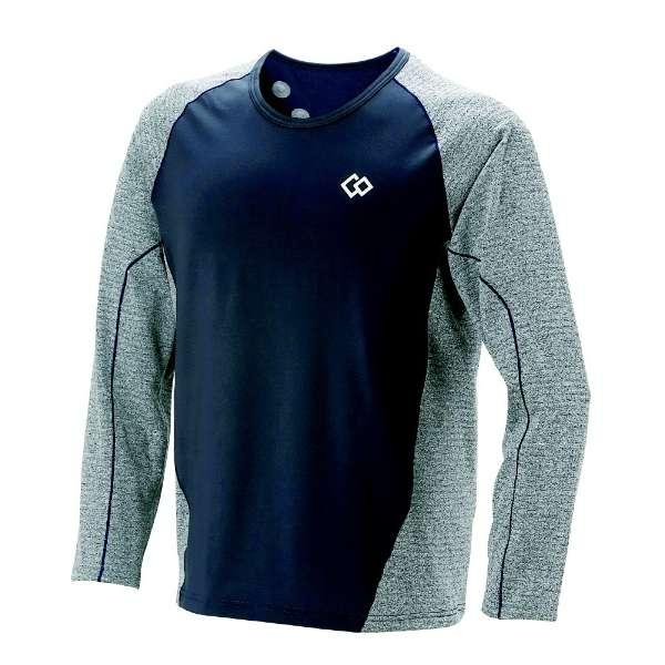メンズ シャツ コラントッテ レスノ スイッチングシャツロングスリーブ(Mサイズ/グレー×ネイビー) AJDJA68M