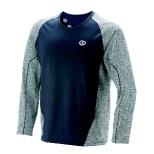 メンズ シャツ コラントッテ レスノ スイッチングシャツロングスリーブ(XLサイズ/グレー×ネイビー) AJDJA68XL