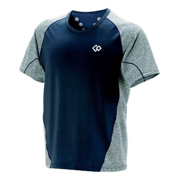 メンズ シャツ コラントッテ レスノ スイッチングシャツショートスリーブ(XLサイズ/グレー×ネイビー) AJDJB68XL