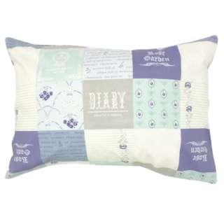 【まくらカバー】綿100%両面プリント枕カバー HAIDEN 標準サイズ(綿100%/サックス)