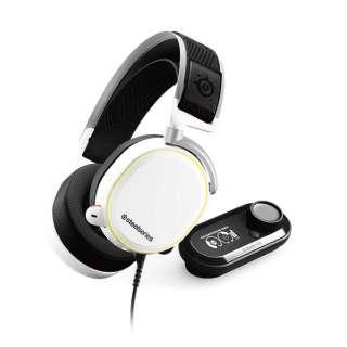 61454 有線ゲーミングヘッドセット Arctis Pro + Game DAC ホワイト [φ3.5mmミニプラグ+USB /両耳 /ヘッドバンドタイプ]