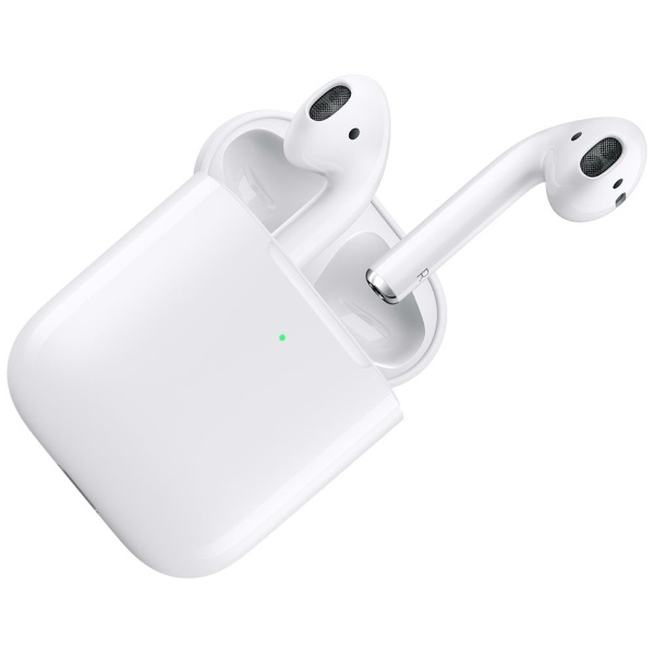 AirPods (エアーポッズ/第2世代) with Wireless Charging Case 2019年 新型 ブルートゥースイヤホン フルワイヤレス インナーイヤー型 MRXJ2J/A 【純正】 MRXJ2J/A [リモコン・マイク対応 /ワイヤレス(左右分離) /Bluetooth]