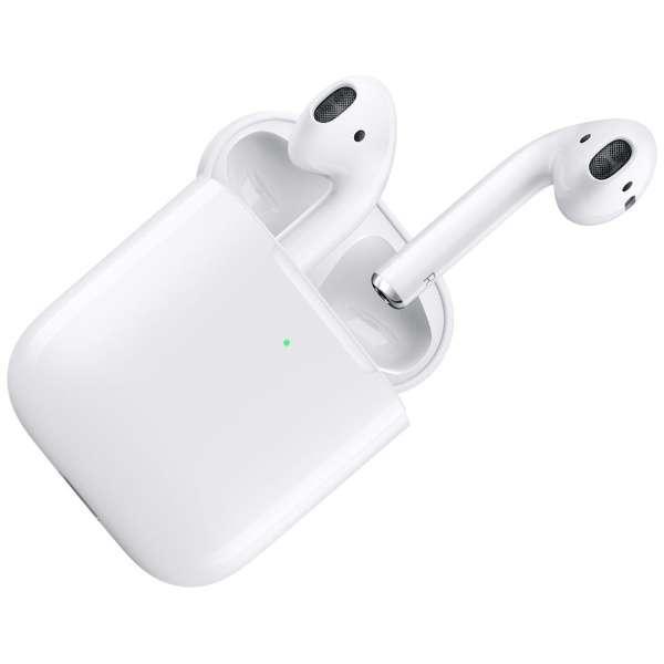 AirPods (エアーポッズ/第2世代) with Wireless Charging Case 2019年 新型 ブルートゥースイヤホン フルワイヤレス インナーイヤー型 MRXJ2J/A 【純正】 MRXJ2J/A [リモコン・マイク対応 /ワイヤレス(左右分離) /Bluetooth]