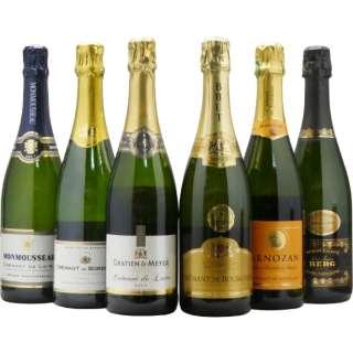 第2弾 フランス銘醸地の本格シャンパン製法! 豪華辛口クレマンセット (750ml/6本)【ワインセット】