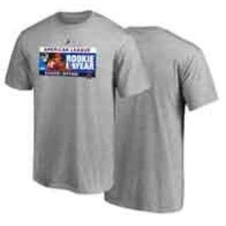 メンズ シャツ majestic #17 OHTANI ROOKIE OF THE YEAR TEE #1(Lサイズ/グレー)MM08-LA-8019-GY
