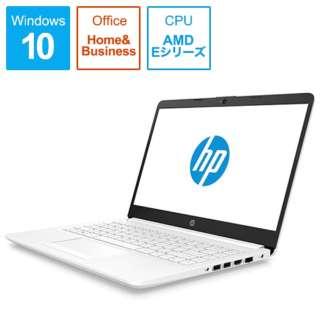 HP 15-db G1モデル ノートパソコン ピュアホワイト 6MD92PA-AAAA [15.6型 /AMD Eシリーズ /SSD:128GB /メモリ:4GB /2019年4月モデル]