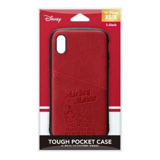 iPhone Xs/X用 タフポケットケース PG-DCS680MKY ミッキーマウス/レッド