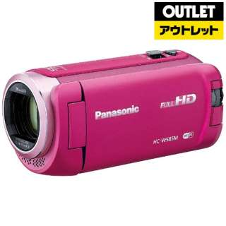 【アウトレット品】 ビデオカメラ [フルハイビジョン対応] HC-W585M ピンク 【外装不良品】