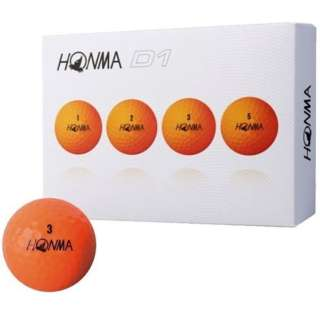 ゴルフボール HONMA New-D1 ボール《1ダース(12球)/オレンジ》BT1801