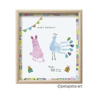 FirstArt 色紙 ウサギとクジャク HPSK-SB/H-1 HPSK-SB/H-1