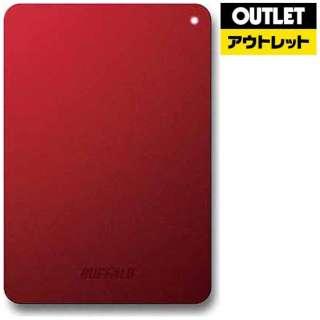 【アウトレット品】 外付けHDD [ポータブル型 /1TB] HD-PNFU3-Eシリーズ HD-PNF1.0U3-BRE レッド 【生産完了品】