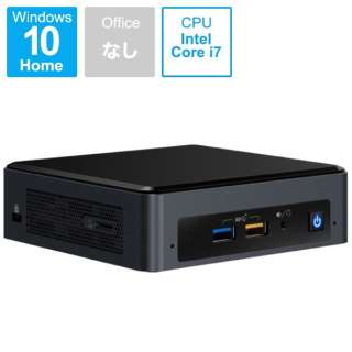 NUC Mini PC デスクトップPC[モニター無し /intel Core i7 /SSD:512GB /メモリ 16GB /2019年3月モデル] BOXNUC8i7BEKQA ブラック [モニター無し /SSD:512GB /メモリ:16GB /2019年3月モデル]