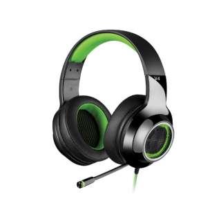 ED-V4GR ゲーミングヘッドセット グリーン [USB /両耳 /ヘッドバンドタイプ]