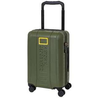 スーツケース ワイドハンドルジッパーキャリー 37L ADVENTURE SERIES カーキ NAG-0800-49 [TSAロック搭載]