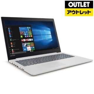 【アウトレット品】 15.6型ノートPC [Win10 Home・Celeron・HDD 500GB・メモリ 4GB] Ideapad (アイデアパッド )320 80XR009SJP ブリザードホワイト 【生産完了品】