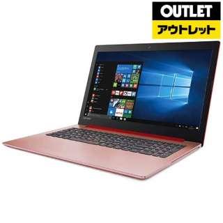 【アウトレット品】 15.6型ノートPC [Win10 Home・Core i3・HDD 1TB・メモリ 4GB・Office] Ideapad (アイデアパッド )320  80XH00KFJP コーラルレッド 【生産完了品】