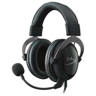 KHX-HSCP-GMRC ゲーミングヘッドセット HyperX Cloud II ガンメタル [φ3.5mmミニプラグ+USB /両耳 /ヘッドバンドタイプ]