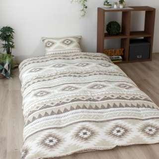 【掛ふとんカバー】変り織り ブール シングルロングサイズ(ポリエステル65%、綿35%/150×210cm/ブラウン)