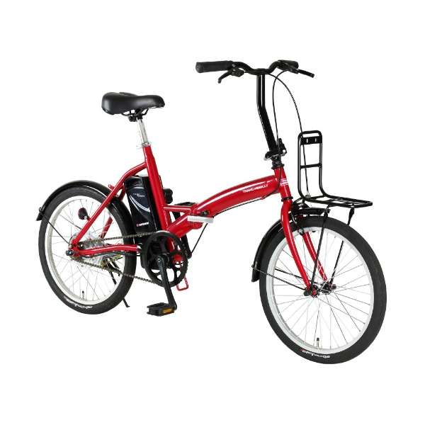 【eバイク】 20型 電動アシスト 折りたたみ自転車 TRANS MOBILLY CONVENIENT(レッド/シングルシフト) 92205-02 【組立商品につき返品不可】