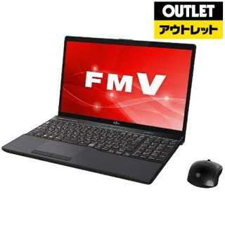 【アウトレット品】 15.6型ノートPC [Office付・Core i7・HDD 1TB・SSD 128GB・メモリ 8GB] LIFEBOOK(ライフブック) FMVA77C2B ブライトブラック 【生産完了品】