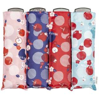 折りたたみ雨傘 ハローキティポケフラ 和りんご 55cm 【色指定不可】 HKGWR-3F55-UH