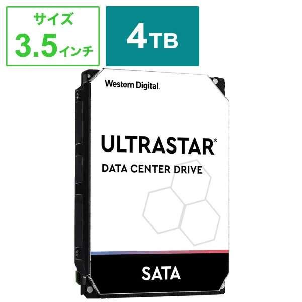WesternDigital Ultrastar SATA6G 接続 ハードディスク 4TB HUS726T4TALA6L4 【バルク品】