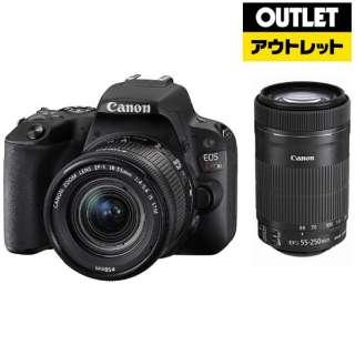 【アウトレット品】 デジタル一眼レフカメラ EOS Kiss X9[ダブルズームレンズキット] ブラック 【外装不良品】