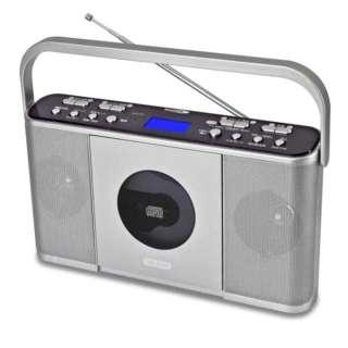 速聴き/遅聴きポータブルCDラジオ CDR-550SC シルバー