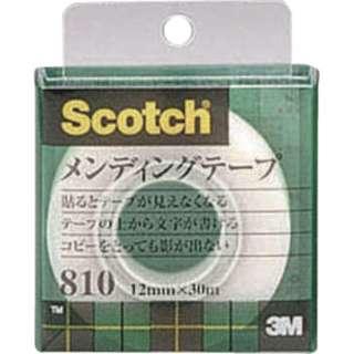 3M メンディングテープ 12mmX30m 巻芯径25mm 810-1-12C