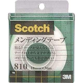 3M メンディングテープ 18mmX30m 巻芯径25mm 810-1-18C