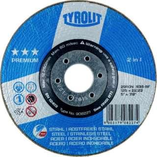TYROLIT 研削砥石 ロンデラー 125mm #36 908227