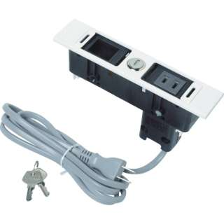 スガツネ工業 デスクトップマルチタップDML型(210-020-480) DML-PB-L-WT