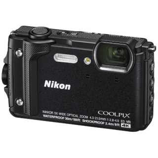 W300 コンパクトデジタルカメラ COOLPIX(クールピクス) ブラック [防水+防塵+耐衝撃]
