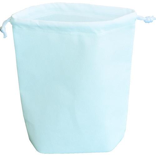 TRUSCO 不織布巾着袋 B5サイズ マチあり ホワイト 10枚入 HSB5-10-W