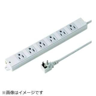 SANWA 工事物件タップ ノーマルコンセント 6個口 L型 ケーブル長3m TAP-KE6NL-3