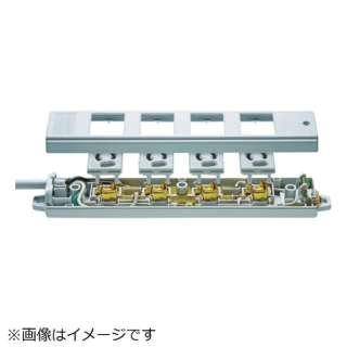SANWA 工事物件タップ ノーマルコンセント 2個口 L型 ケーブル長5m TAP-KE2NL-5