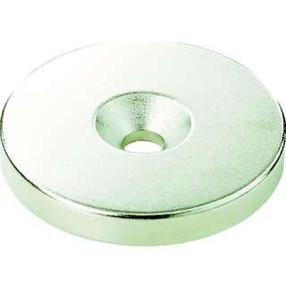 TRUSCO ネオジム丸径磁石 皿ネジ穴付 外径12mm×3mm M3 1個入り T12R03-M3
