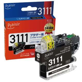 PLE-BR3111B 互換プリンターインク ブラザー用 プレジール(ブラザー用) ブラック