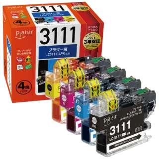 PLE-BR3111-4P 互換プリンターインク ブラザー用 プレジール(ブラザー用) 4色セット
