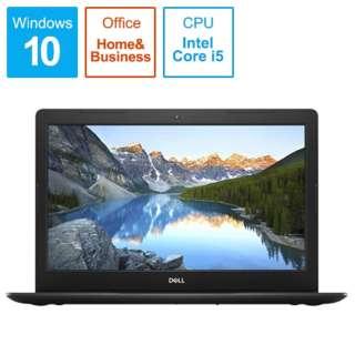 Inspiron 15 3000 3580 ノートパソコン ブラック NI355T-9HHBB [15.6型 /intel Core i5 /HDD:1TB /Optane:16GB /メモリ:8GB /2019年春モデル]