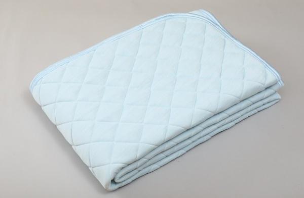 【涼感パッド】西川 アイスプラス クール敷きパッド シングルサイズ(100×205cm/ブルー) IE9001