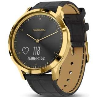 010-01850-7C ハイブリッドスマートウォッチ vivomove HR Gold Black Leather
