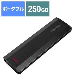 SSD-PH250U3-BA 外付けSSD USB-C+USB-A接続 (PS5対応) ブラック [250GB /ポータブル型]