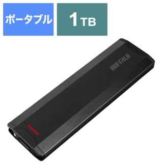 SSD-PH1.0U3-BA 外付けSSD USB-C+USB-A接続 (PS5対応) ブラック [1TB /ポータブル型]