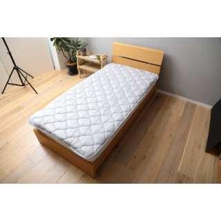 【ベッドパッド】洗える吸水速乾・抗菌防臭ベッドパッド(シングルサイズ/100×200cm/グレー)