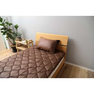 【ベッドパッド】洗える吸水速乾・抗菌防臭ベッドパッド(セミダブルサイズ/120×200cm/ブラウン)