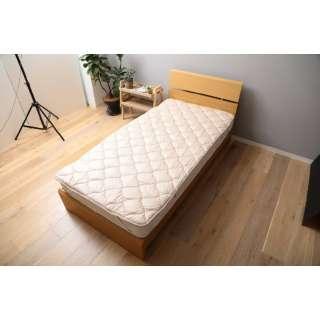 【ベッドパッド】洗える吸水速乾・抗菌防臭ベッドパッド(ダブルサイズ/140×200cm/ベージュ)