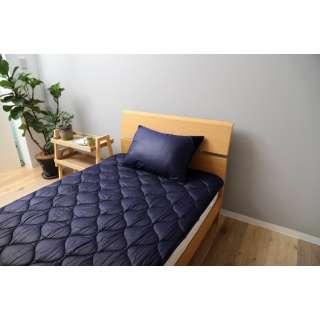 【ベッドパッド】洗える吸水速乾・抗菌防臭ベッドパッド(ダブルサイズ/140×200cm/ネイビー)